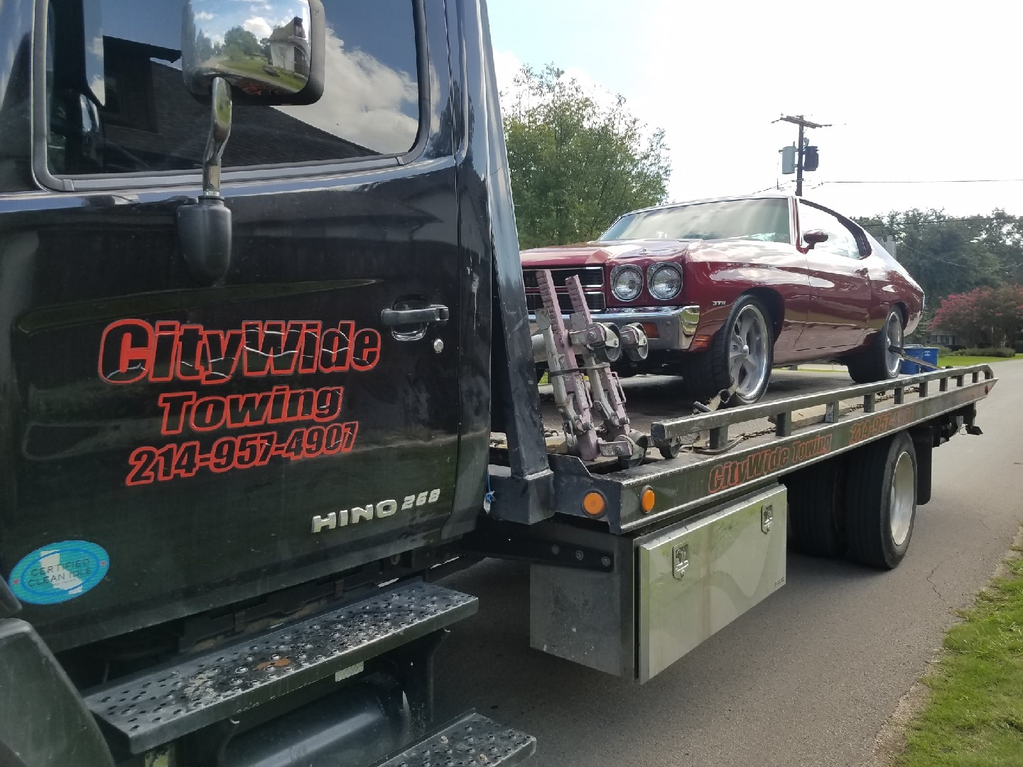 Towing 1970 Chevelle from Dallas to Lewisville, TX