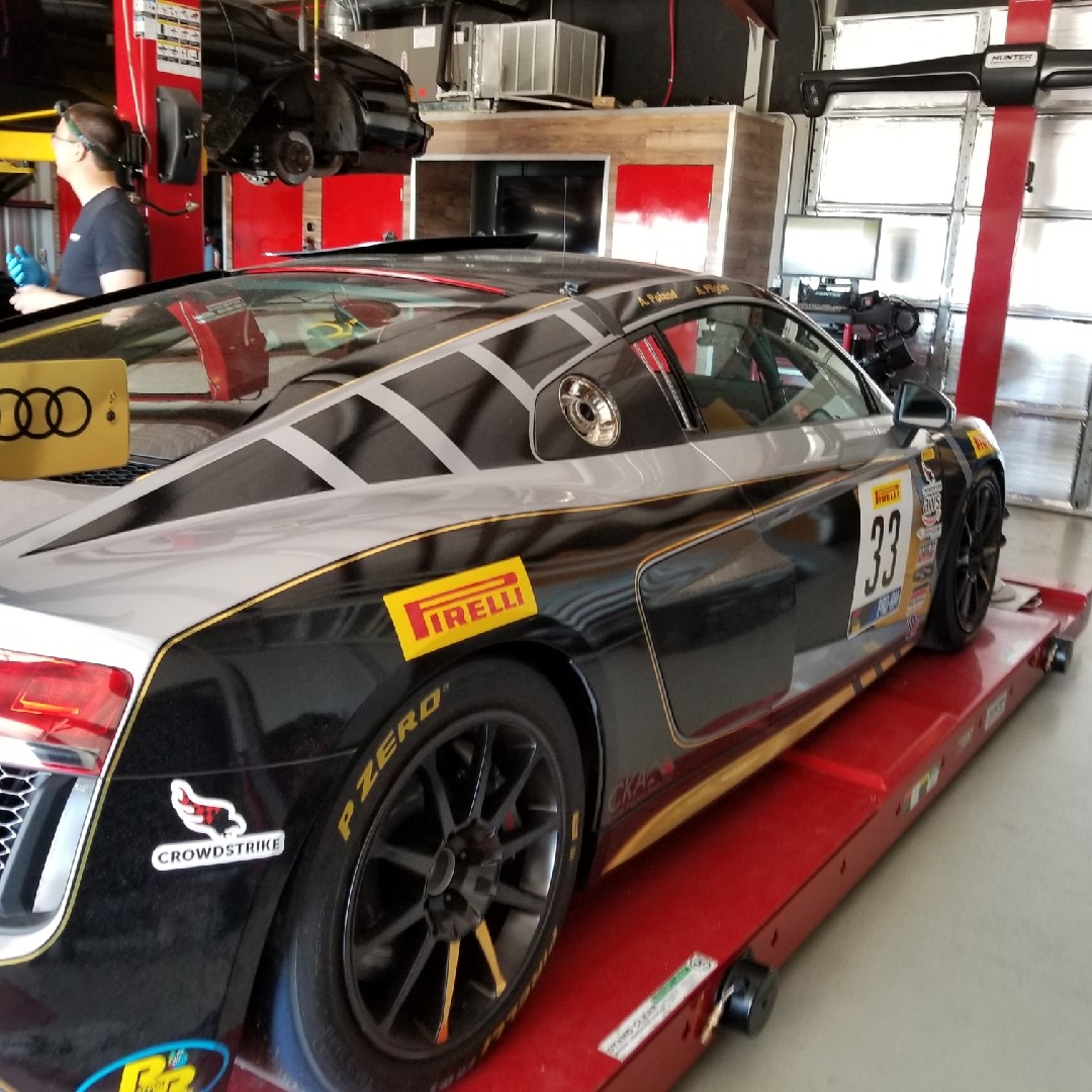 Towing an Audi Race Car