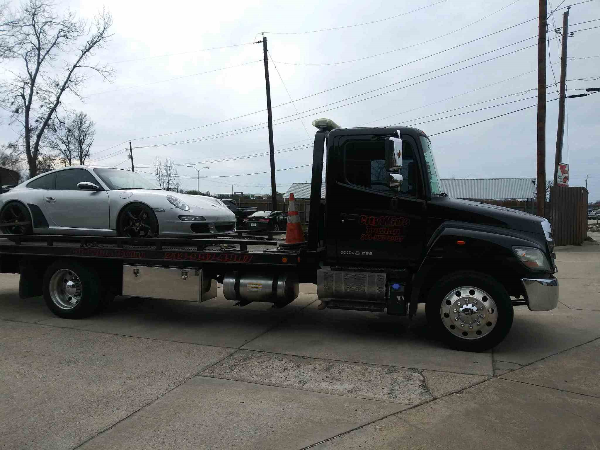 Towing Porsche from East Dallas to Plano, TX