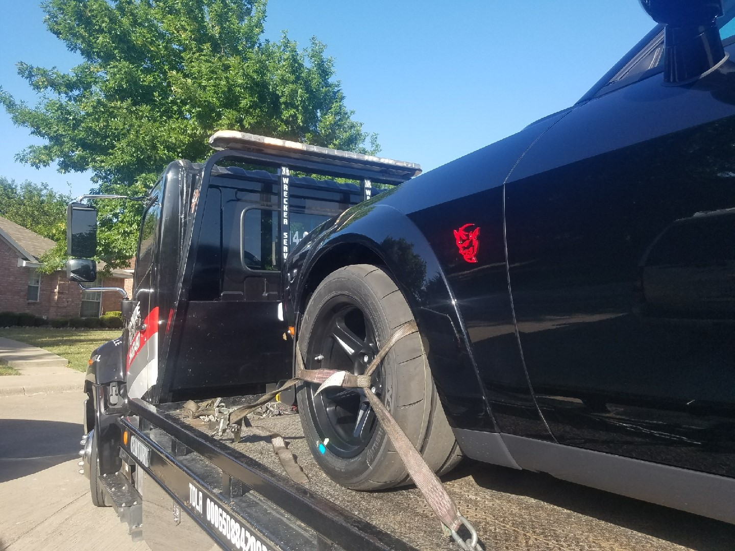Towing Dodge Demon from Waxahachie to Mesquite