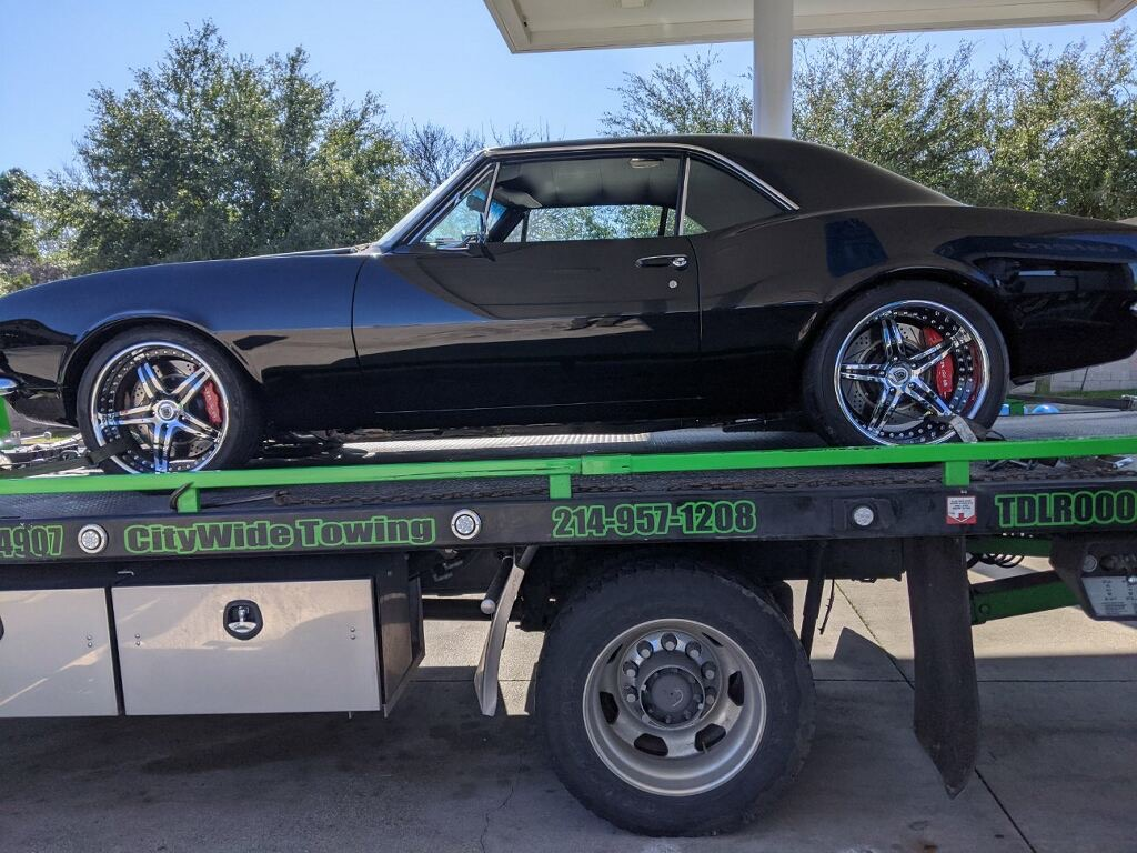 Towing a 1967 Chevrolet Camaro from Duncanville to McKinney, TX