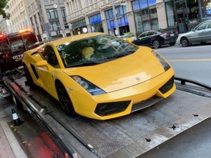 Towing Lamborghini from Dallas to Garland
